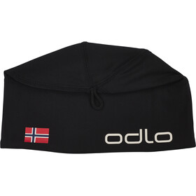 Odlo Polyknit Fan Gorra, black/norwegian flag